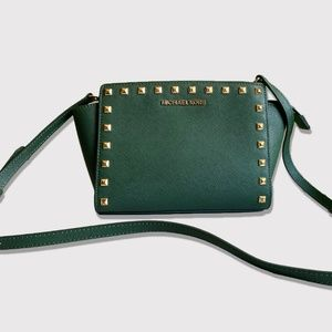 Michael Kors Selma Medium Studded Messenger Bag